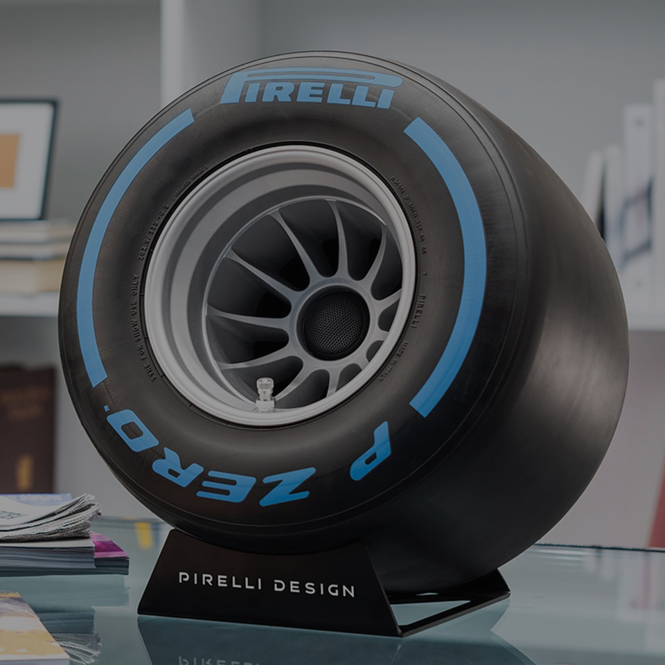 Pirelli P Zero Sound F1 Tire-Shaped Bluetooth Speaker
