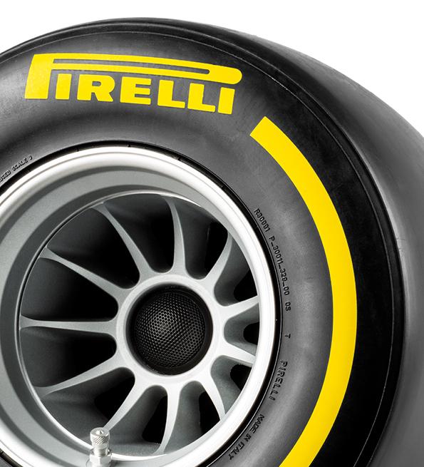 Pirelli P ZERO™ casse acustiche colore giallo