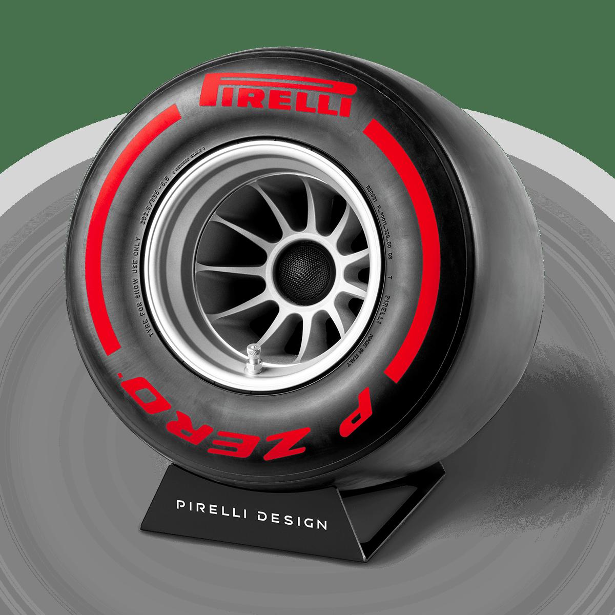 Pirelli P ZERO™ impianto stereo di design colore rosso
