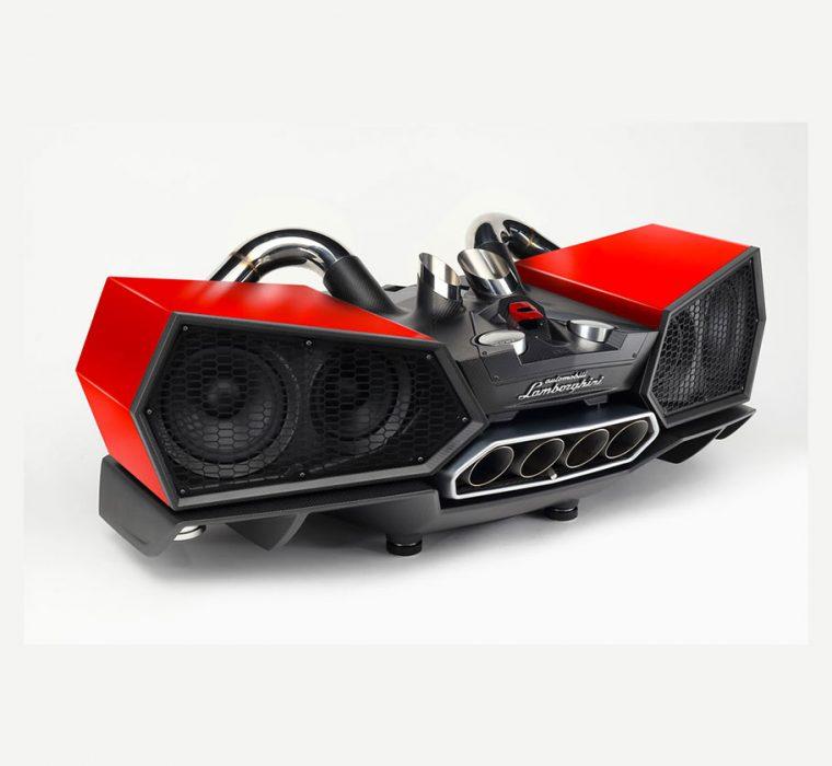 iXOOST ESAVOX Mars Red - Original Aventador Lamborghini™ Exhaust Cover - Bluetooth speaker
