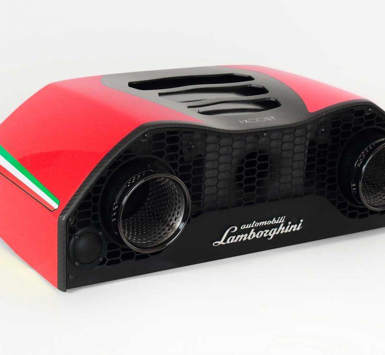 iXOOST AVALÁN Mars Red luxury home speakers Lamborghini™