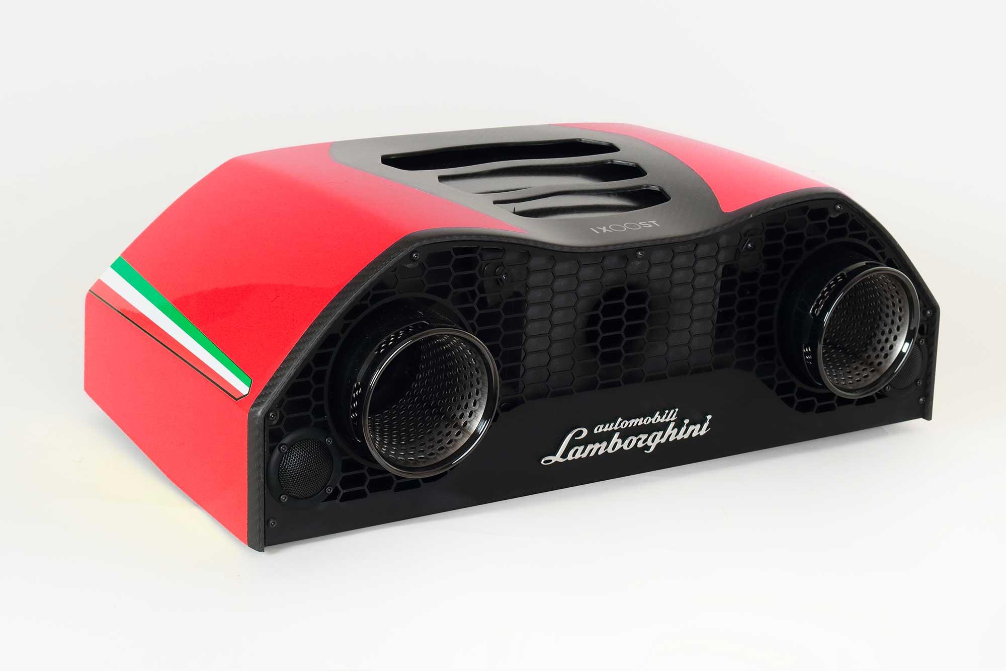 iXOOST AVALÁN Mars Red impianto audio da casa di lusso Lamborghini™